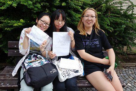 Studentky z Yangtze Univerzity
